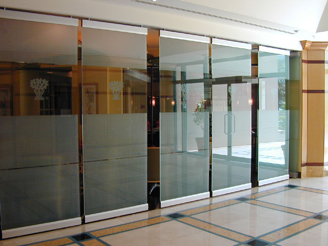 Barranger folding doors for Glass walls